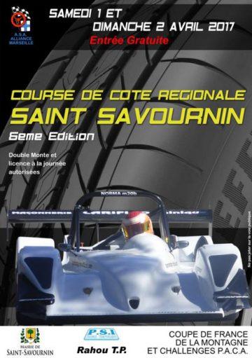 Affiche Course de Côte de Saint-Savournin 2017