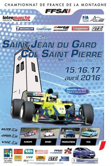 Affiche Course de Côte de Saint-Jean-du-Gard 2016