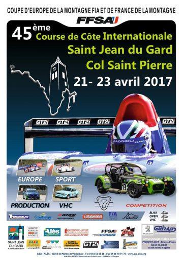 Affiche Course de Côte de Saint-Jean-du-Gard 2017