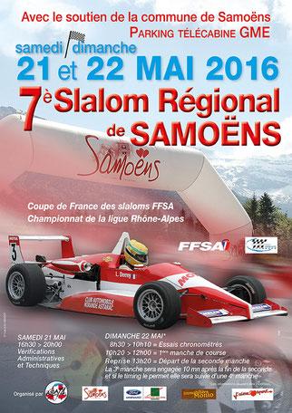 Affiche Slalom de Samoëns 2016