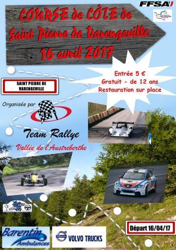 Affiche Course de Côte de Saint-Pierre-de-Varengeville 2017