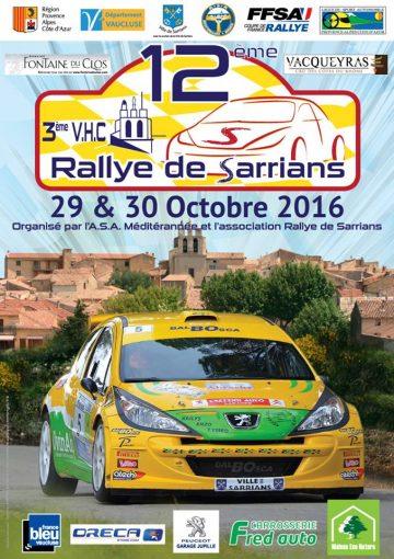 Affiche Rallye de Sarrians 2016