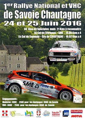 Affiche Rallye Savoie Chautagne 2016