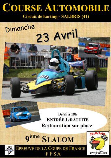 Affiche Slalom du SAVI Compétition 2017