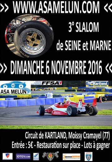 Affiche Slalom de Seine et Marne 2016