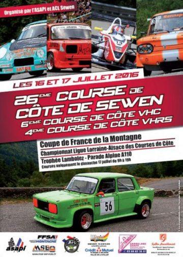 Affiche Course de Côte de Sewen 2016