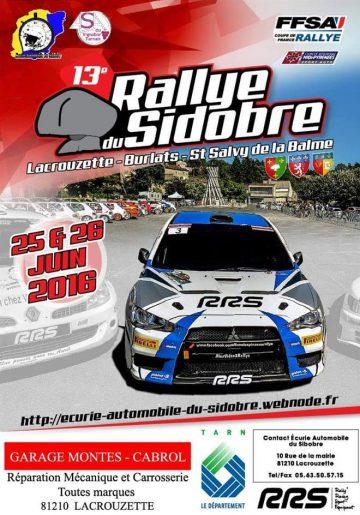 Affiche Rallye du Sidobre 2016