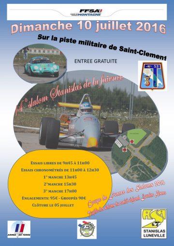 Affiche Slalom Stanislas 2016