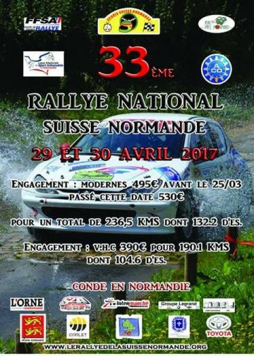 Affiche Rallye Suisse Normande 2017