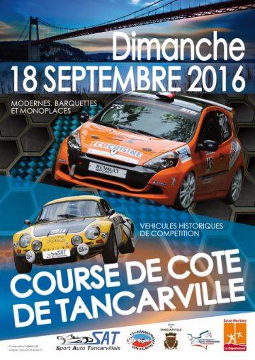 Affiche Course de Côte de Tancarville 2016