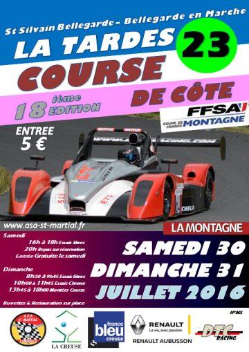 Affiche Course de Côte de la Tardes 2016