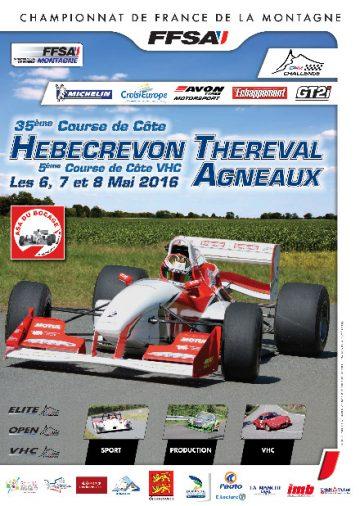 Affiche Course de Côte des Teurses d'Hébécrevon Agneaux 2016
