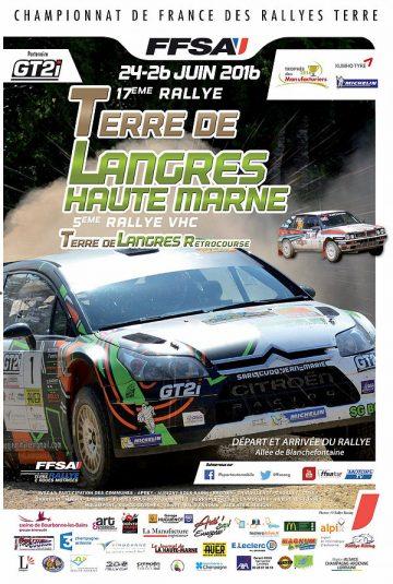 Affiche Rallye Terre de Langres 2016