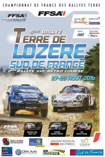 Affiche Rallye Terre de Lozère 2016