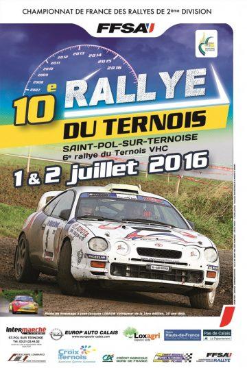 Affiche Rallye du Ternois 2016