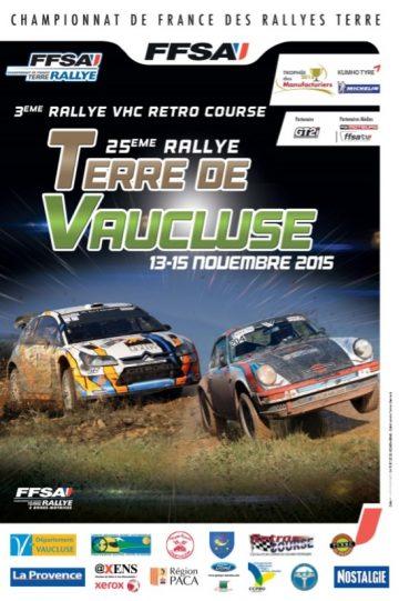 Affiche Rallye Terre de Vaucluse 2015
