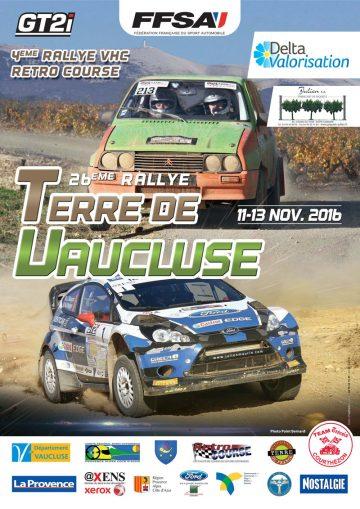 Affiche Rallye Terre de Vaucluse 2016