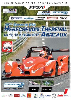 Affiche Course de Côte des Teurses de Thèreval Agneaux 2017