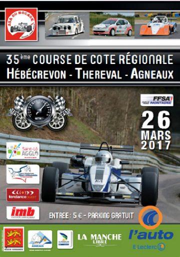 Affiche Course de Côte de Thèreval Agneaux 2017