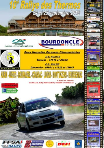 Affiche Rallye des Thermes 2016