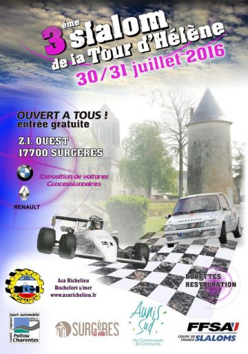 Affiche Slalom de la Tour d'Hélène 2016