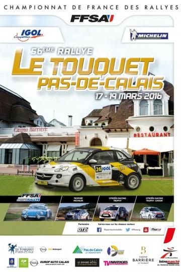 Affiche Rallye du Touquet 2016