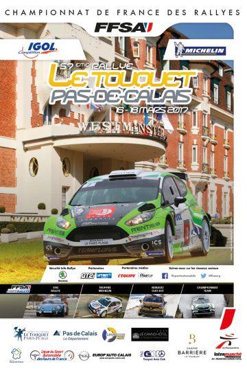 Affiche Rallye du Touquet 2017