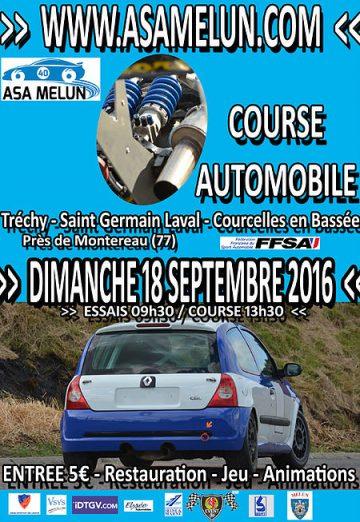 Affiche Course de Côte de Tréchy 2016