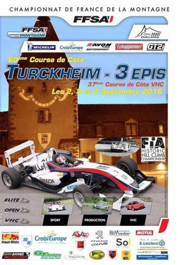 Affiche Course de Côte de Turckheim - 3 Épis 2016