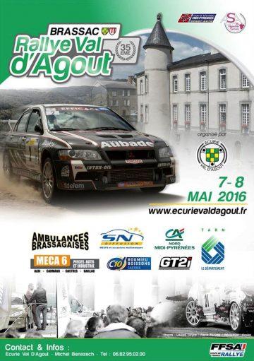 Affiche Rallye du Val d'Agout 2016