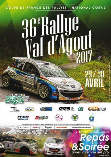 Affiche Rallye du Val d'Agout 2017
