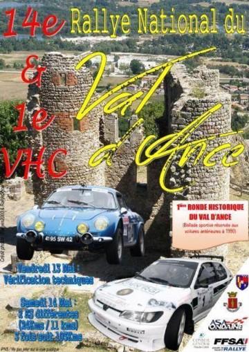 Affiche Rallye du Val d'Ance 2016