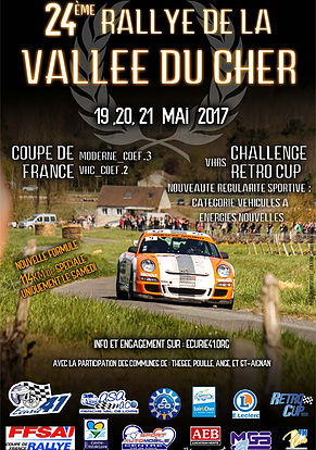 Affiche Rallye de la Vallée du Cher 2017