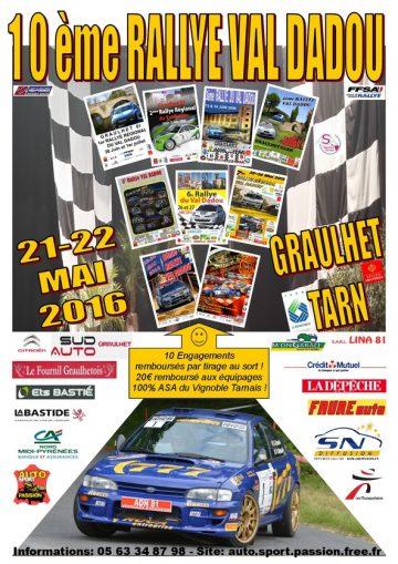Affiche Rallye du Val Dadou 2016