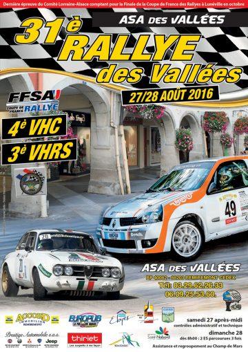Affiche Rallye des Vallées 2016