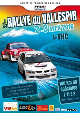 Affiche Rallye du Vallespir 2016