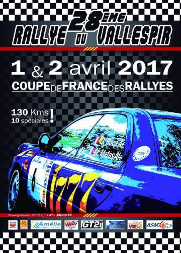 Affiche Rallye du Vallespir 2017