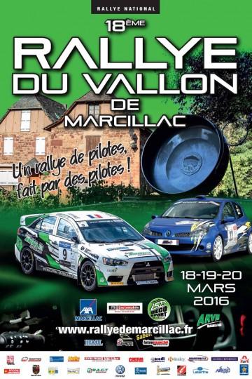 Affiche Rallye du Vallon de Marcillac 2016