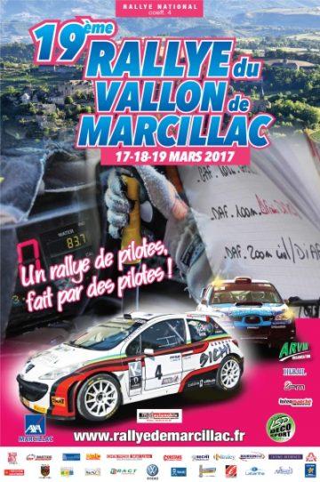 Affiche Rallye du Vallon de Marcillac 2017