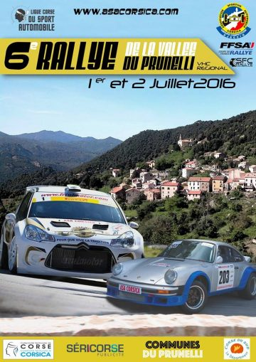 Affiche Rallye de la Vallée du Prunelli 2016