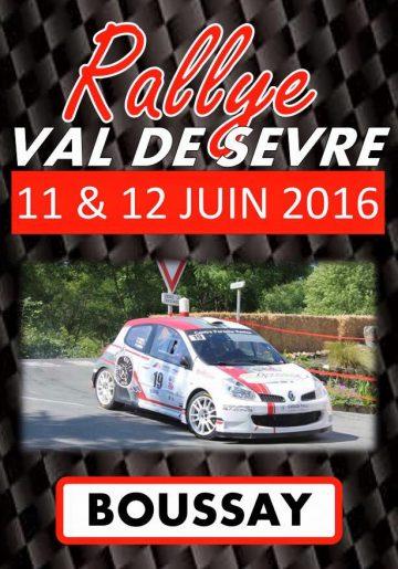 Affiche Rallye du Val de Sèvre 2016