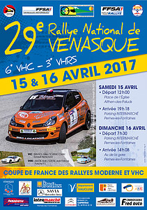Affiche Rallye de Venasque 2017