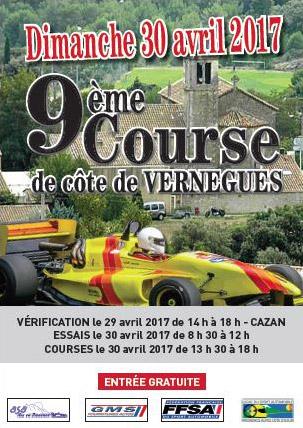 Affiche Course de Côte de Vernègues 2017