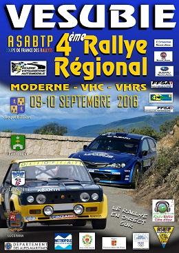 Affiche Rallye de la Vésubie 2016