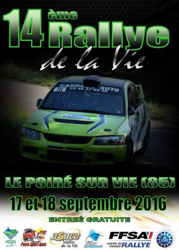 Affiche Rallye de la Vie 2016