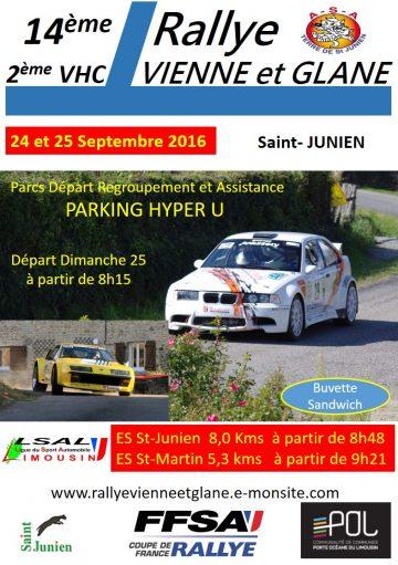 Affiche Rallye Vienne et Glane 2016