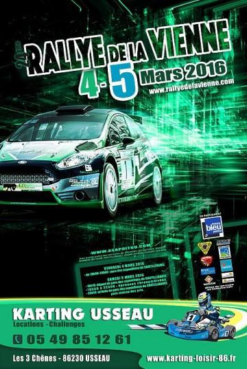 Affiche Rallye de la Vienne 2016