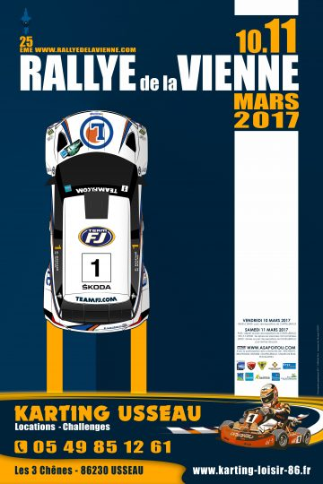 Affiche Rallye de la Vienne 2017