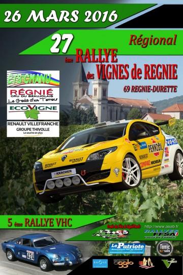 Afiche Rallye des Vignes de Régnié 2016