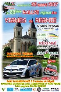 Affiche Rallye des Vignes de Régnié 2017
